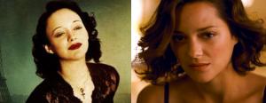 Marion Cotillard dans La Môme et Inception