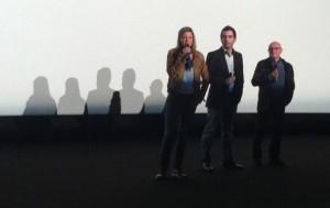 """Jennifer Devoldère, Sébastien Castro et Michel Blanc à l'avant-première de """"Et soudain, tout le monde me manque"""", à l'UGC La Défense (photo Céduciné)"""